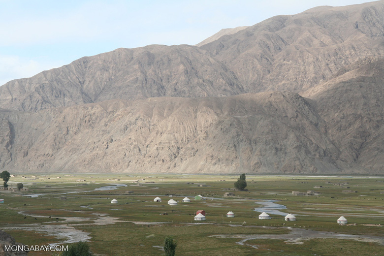 Yurts in Tashkurgan meadow in western China