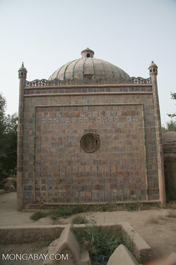Tiled tomb at the Tomb of Yarkand Kings in Yarkand