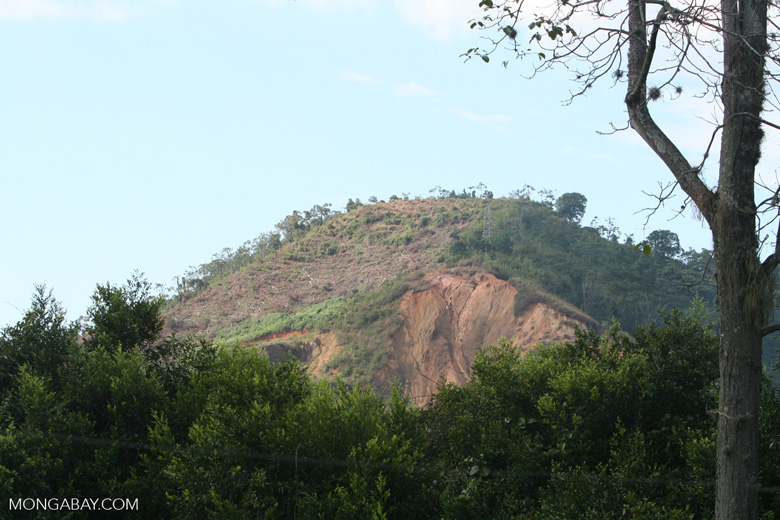 Deforested hillside in Colombia