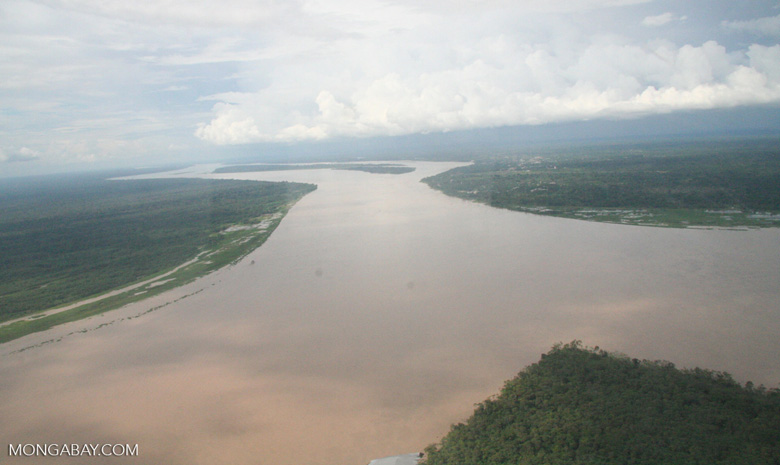 Aerial view of the Amazon river [co02-0061]