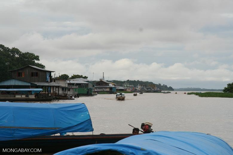 Amazon river port at Leticia