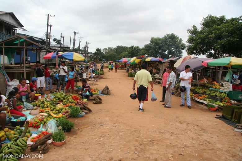 Port marketplace in Leticia
