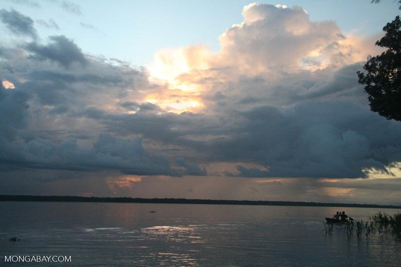 Sundown over the Amazon
