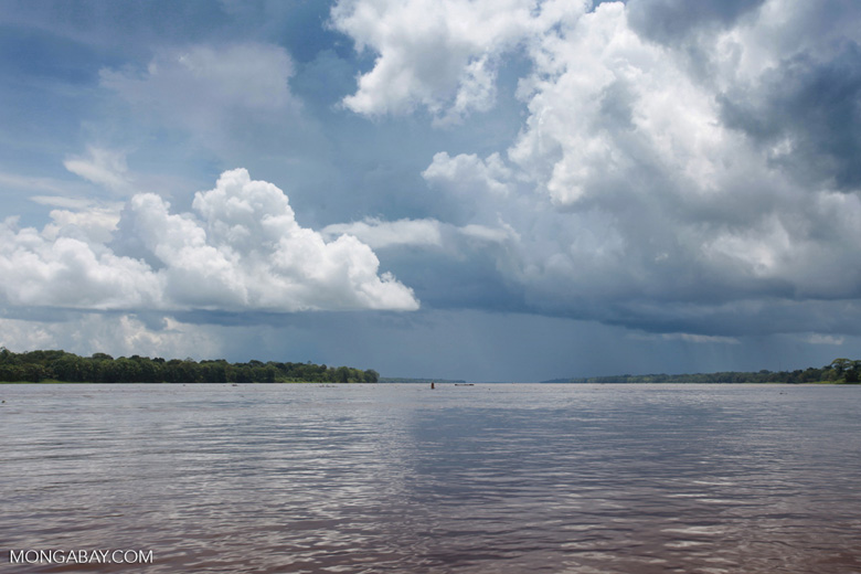Storm clouds over the Amazon