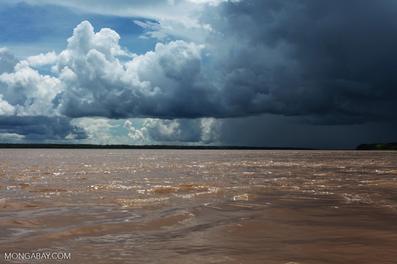 Storm over the Amazon river