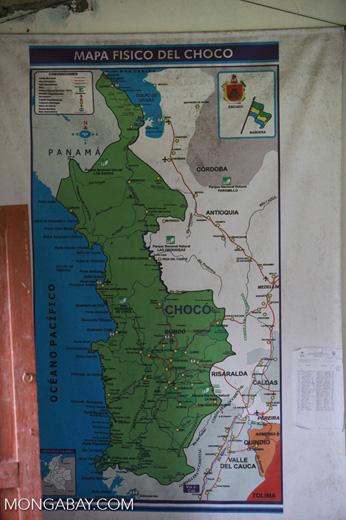 Mapa Fisico del Choco / Map of the Choco (Colombia)