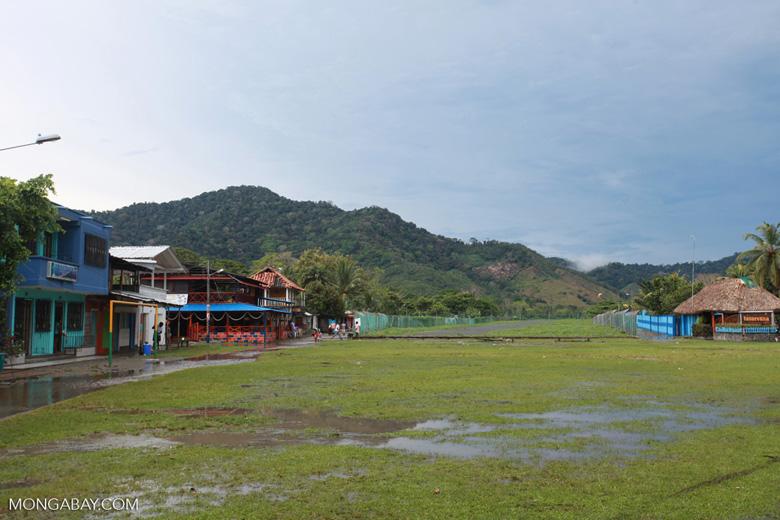 Football field and runway in Capurgana