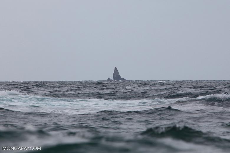 Rock outcropping off Gorgona
