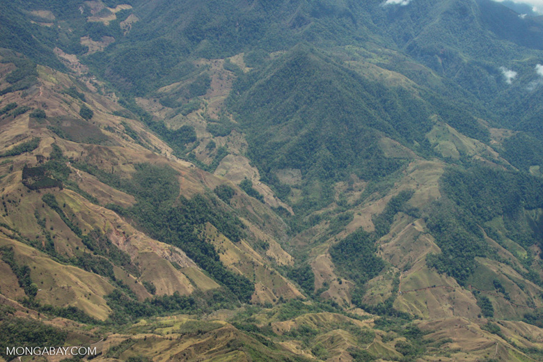 Aerial view of deforestation on mountainous terrain in Costa Rica [costa-rica-d_0192]