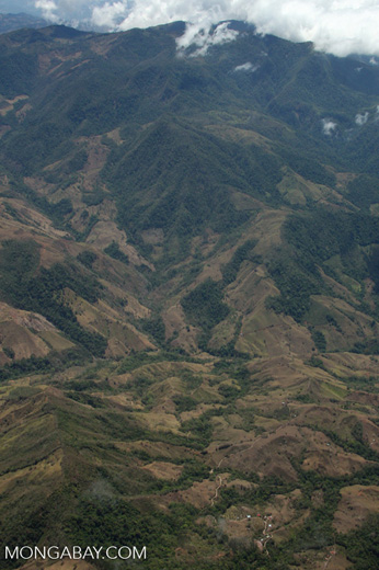 Aerial view of deforestation on mountainous terrain in Costa Rica [costa-rica-d_0193]