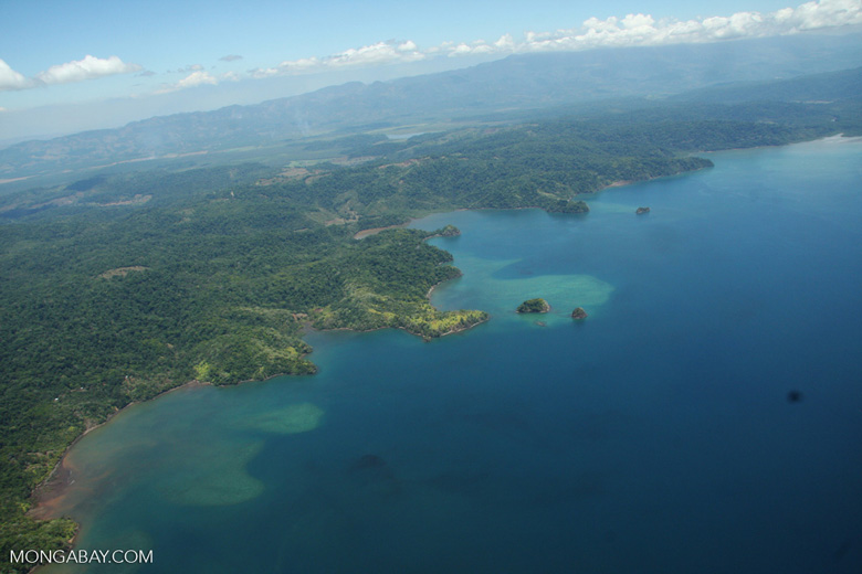 Aerial view of coastal forest and coral reefs in Costa Rica [costa-rica-d_0299]