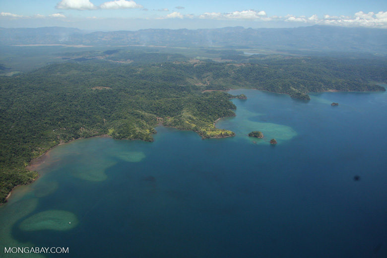 Aerial view of coastal forest and coral reefs in Costa Rica [costa-rica-d_0300]