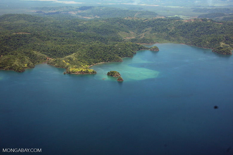 Aerial view of forests and islands of Golfo Dulce [costa-rica-d_0302]
