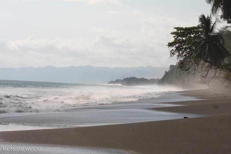Waves breaking on an Osa Peninsula beach [costa-rica-d_0504]