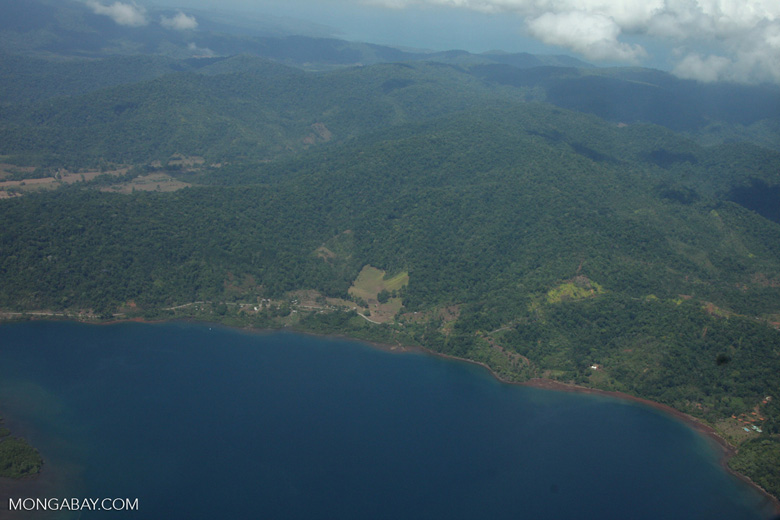 View inland from the Golfo Dulce