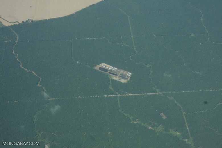 Overhead view of palm oil mill and processing facilities in Costa Rica [costa-rica-d_0702]