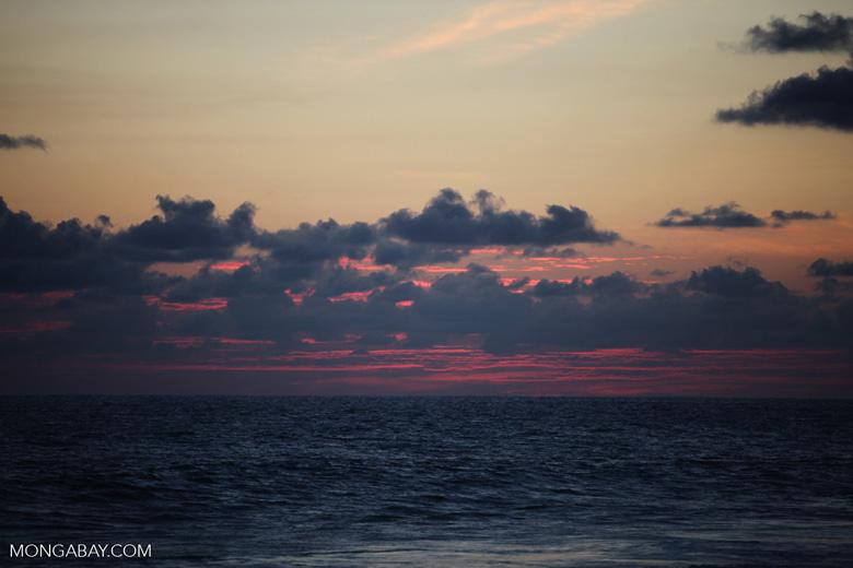 Sunset at an Osa Peninsula beach [costa-rica_1393a]