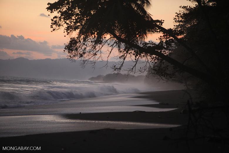 Sunset at an Osa Peninsula beach [costa-rica_1396]