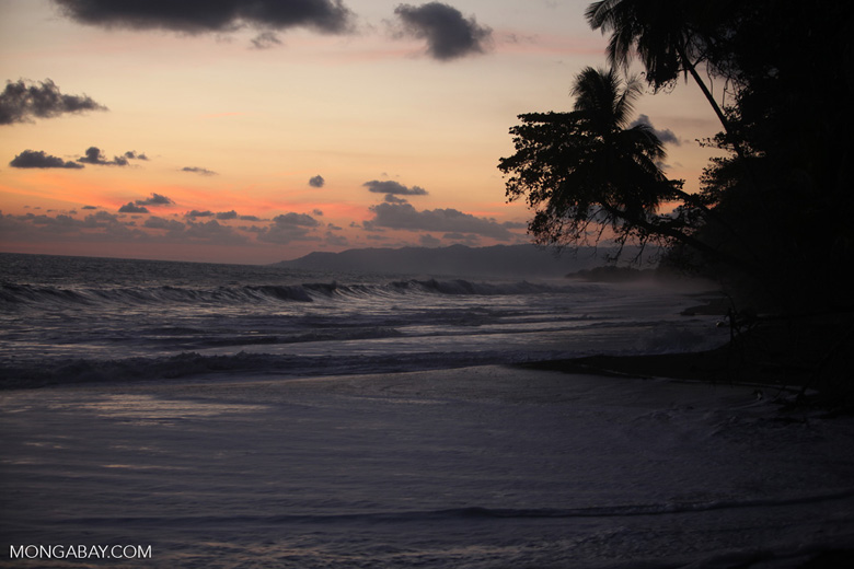Sunset at an Osa Peninsula beach