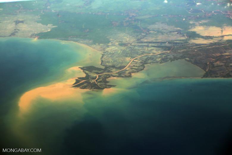 Soil erosion off Java