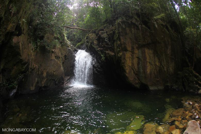Riam Berasap waterfall in Gunung Palung National Park [kalbar_0758]