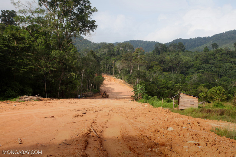 Mining road through rainforest in Indonesian Borneo [kalbar_2272]