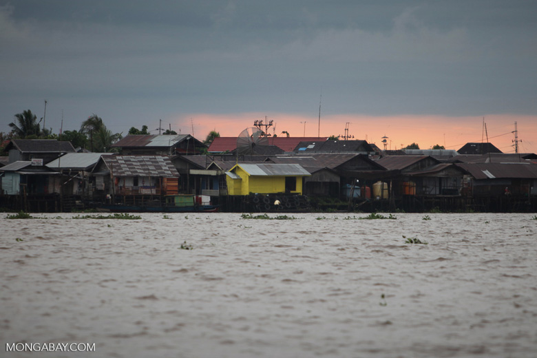 Homes along the Barito river in Banjarmasin [kalsel_0332]