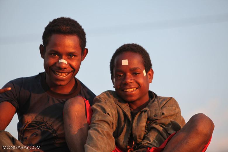 Papuan boys