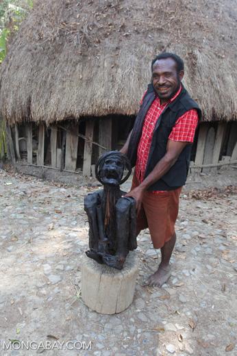 Mummified human in New Guinea