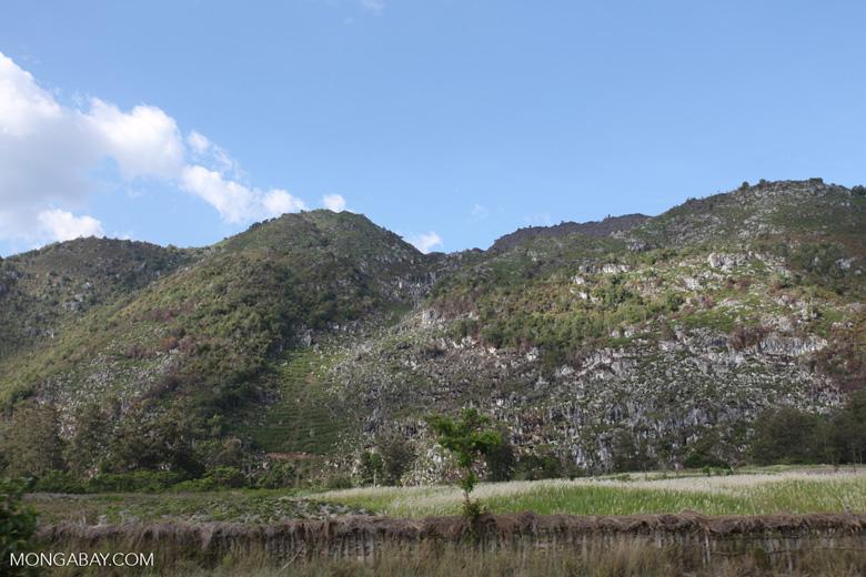 Limestone mountains in New Guinea