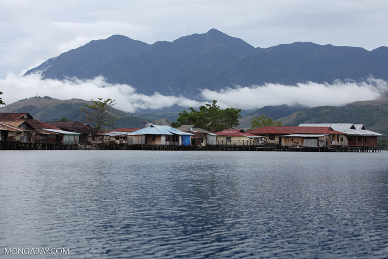 Sentani village on the shores of Lake Sentani