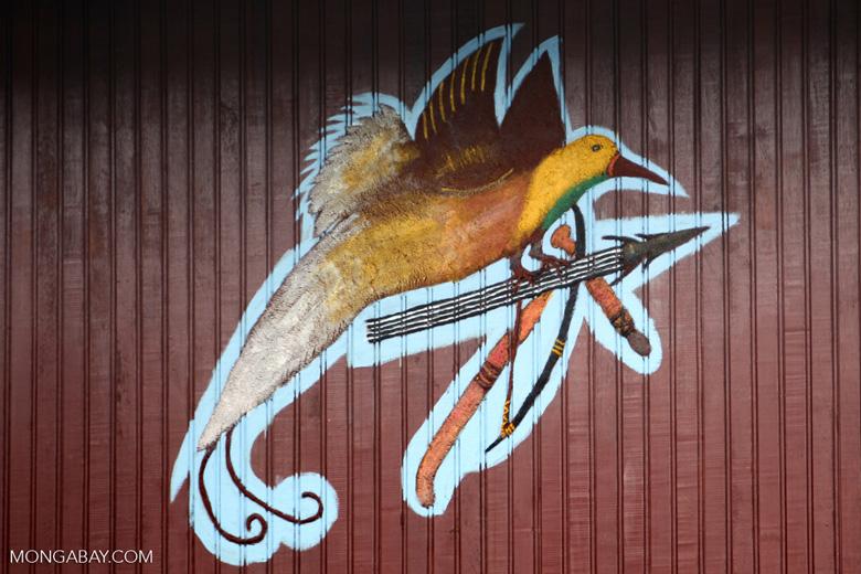 Lake Sentani symbol: bird of paradise carrying a spear