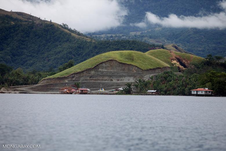 Mining on the shores of Lake Sentani