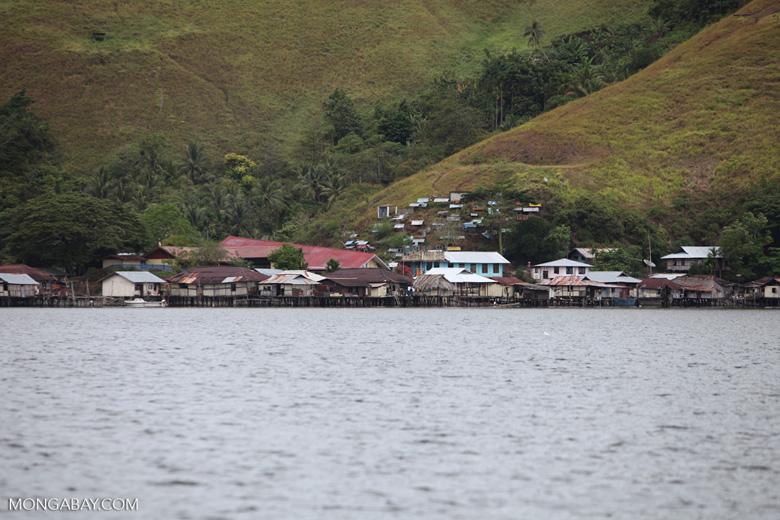 Lake Sentani homes on stilts