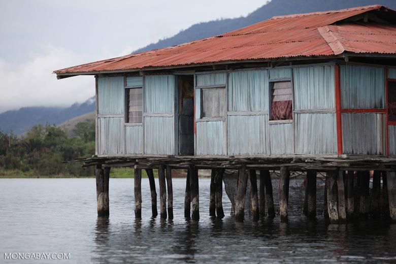 Lake Sentani houses on stilts