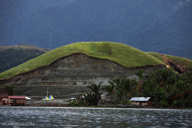 Mine on Lake Sentani