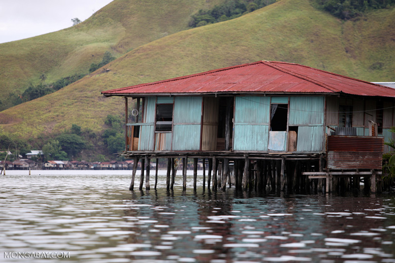 Lake Sentani houses on stilts
