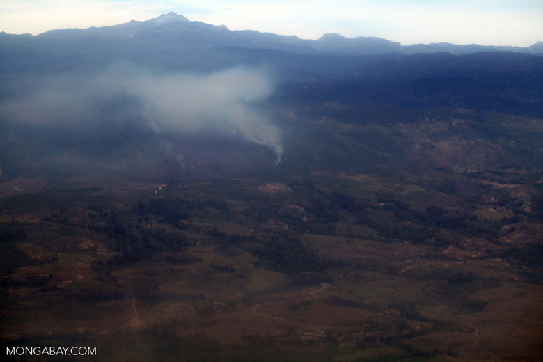 Land-clearing fires in the Baliem Valley