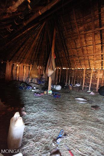 Inside a Lani hut