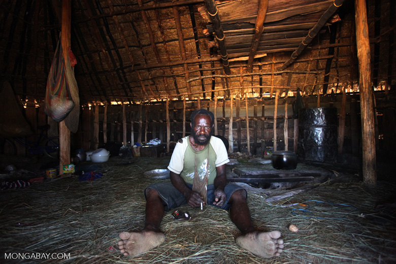 Lani man in his hut