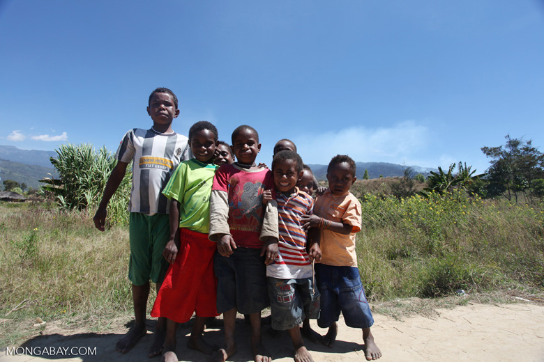 Group of Papuan kids