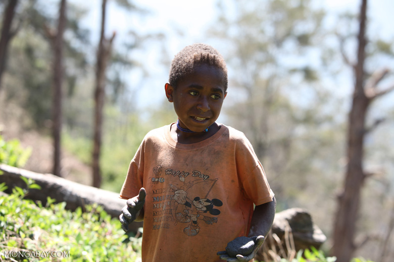 Dani boy in the highlands of New Guinea