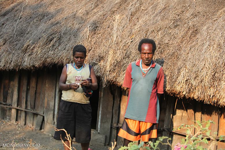 Papuan man with his wife