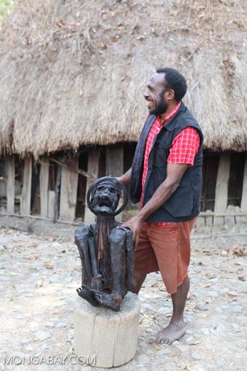 Mummified Papuan man named Werapak Elosarek (Kain)