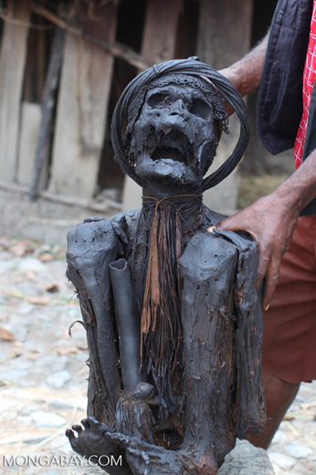 Mummified man in New Guinea