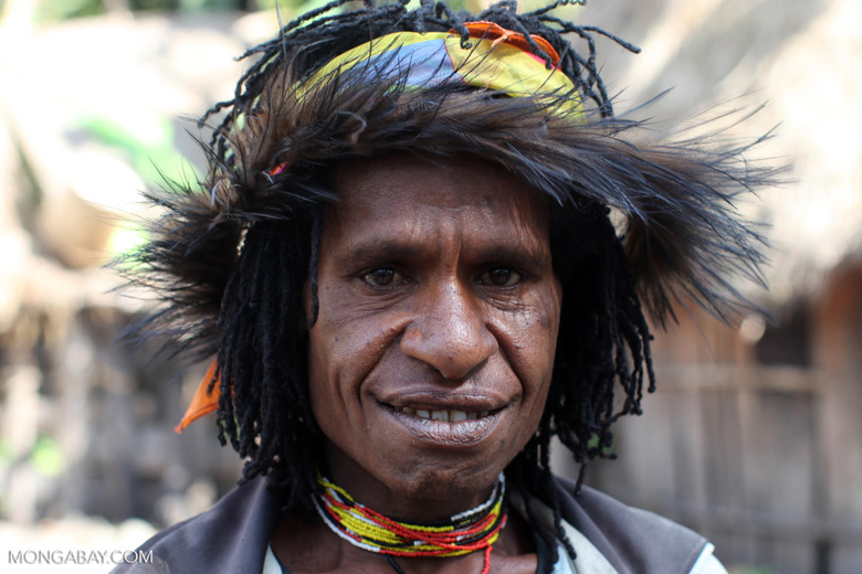 Dani woman with a cassowary headdress
