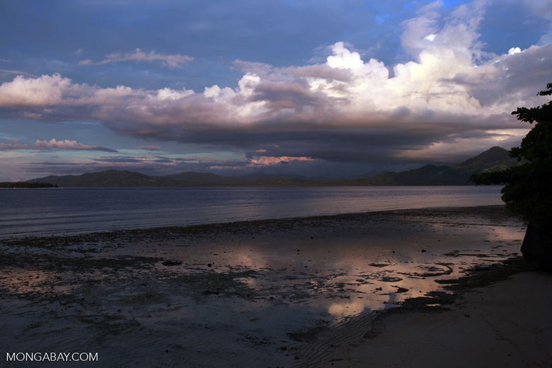Siladen, Bunaken, and Sulawesi at sunset