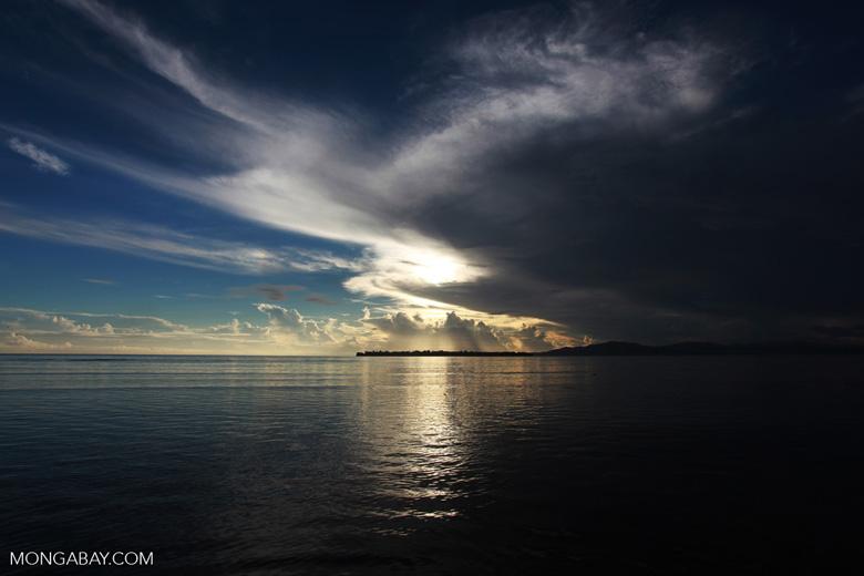 Sunrise over Siladen and Bunaken Islands