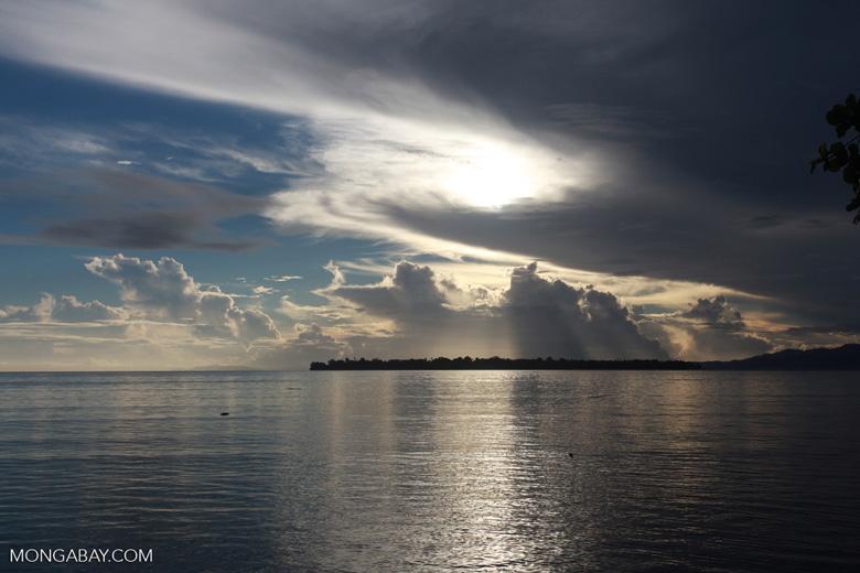 Sunrise over Siladen Island