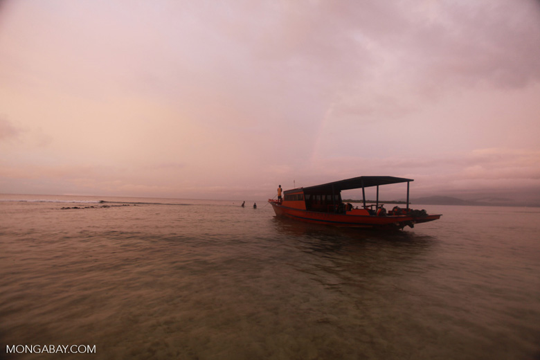 Dive boat off Bunaken